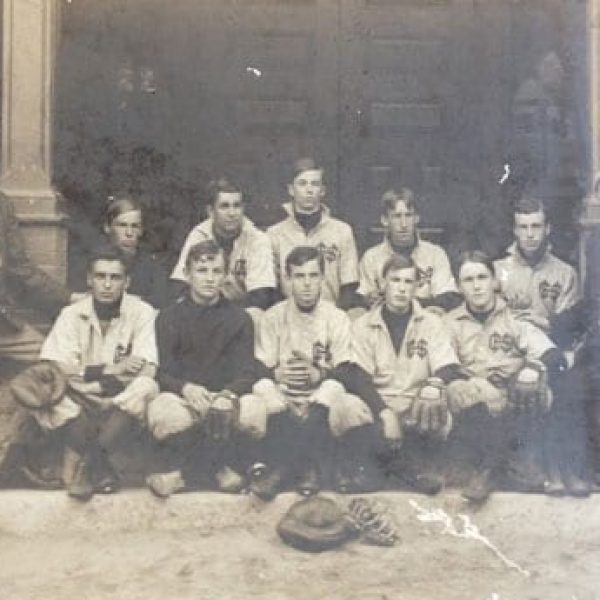Concord High School baseball team in about 1900.