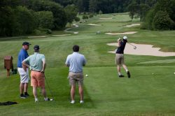 Golfers at Concord Museum Golf Tournament