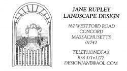 Jane Rupley Landscape Design logo