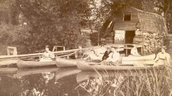 Canoeing on the Concord River 1893 Concord Museum Collection