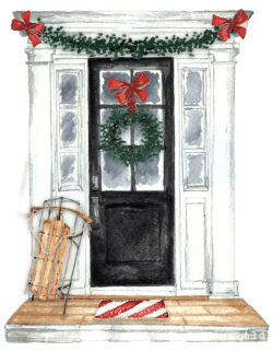 Concord Museum Holiday House Tour Logo designed by Tina Labadini