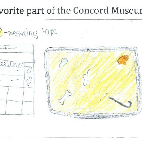 student drawing of Concord Museum program